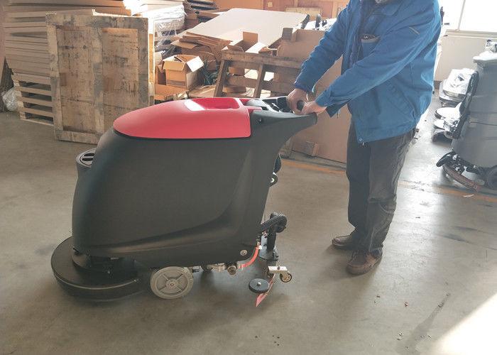 Portable walk behind concrete floor scrubber with 45l for Concrete floor scrubber